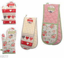 Oven Gloves, Vintage Design Single Double Oven Gloves Mitt, Cooking Baking