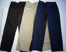 GIRLS STRAIGHT LEG PANTS UNIVERSAL SCHOOL UNIFORMS NEW NWT NAVY KHAKI OR BLACK