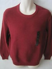 BANANA REPUBLIC Men's Burgundy Ribbed Crew Neck Sweater Size S,M,XXL NWT