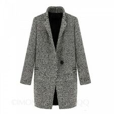 Overcoat Trench Jacket Outerwear Classic Jacket Winter Wool Ladies Coat Size