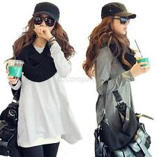 Autumn Korean Women Pullover Jumper Hoodie Candy Color Top Sweater 5 Colors B74