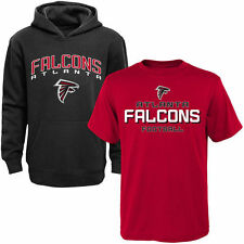 Atlanta Falcons Youth T-Shirt & Hoodie Set - Red/Black