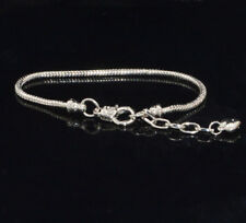 Silver Bracelets chain Screw bangle For European sterling 925 Charms Beads ZZ222