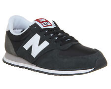 Mens New Balance U420 Trainers BLACK WHITE Trainers Shoes