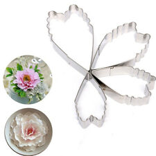 4Pcs Stainless Steel Biscuits Cake Cookie Pastry Heart Peony Cutter Mold Mould