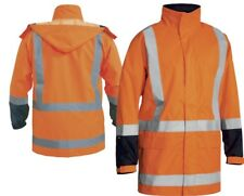 BISLEY WORKWEAR TAPED HI VIS SHELL RAIN JACKET (BJ6967T)