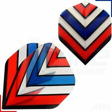 Poly Royal Flying V Flag Dart Flights Standard Strong 1,3,5,10,20 Sets