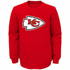 Youth Red Kansas City Chiefs Prime Fleece Crew Pullover Sweatshirt - NFL