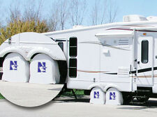 Northwestern Wildcats NCAA Exact Fit White Vinyl Tire Shade Cover by HBS Covers