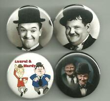Laurel and Hardy 1.5 inch Pins Buttons Magnet  Set 2