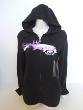 "ROXY Women's Black ""SOUTH BEACH "" Hoodie Full Zip Sweat Jacket Size Small NWT"