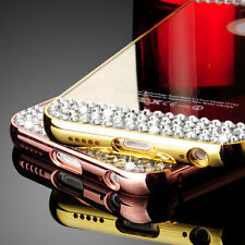 Luxury Aluminum Diamond Bling Mirror Metal Bumper Case For iPhone 6plus /6s Plus