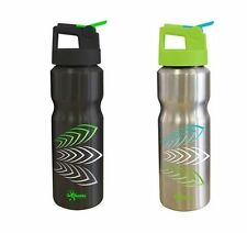 Cheeki 830ml Stainless Steel BPA Free Sports Bottle with straw lid.