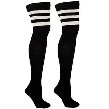 Striped Thigh High Socks for Outfits + Costumes | Over the Knee socks w/ Stripes