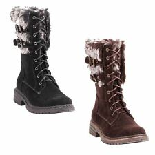 Wanted PILSNER Womans Black Or Brown Warm Winter Water Resistant Combat Boots