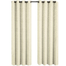 Beige Jacquard Grommet Top Curtain Panel Fiorela  (each)