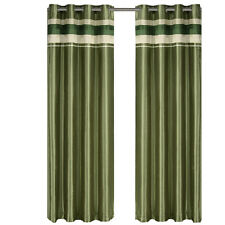 Sage Polyester Blackout Multilayer Energy Saving Grommet Milan Curtain Panel