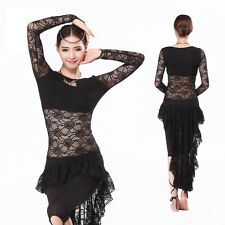 Belly Dance Costume One-Piece Dress Lace Long Sleeves Long Skirt Dancewear