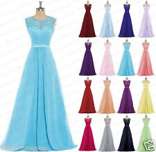 New Lace Evening Formal Wedding Party Dress Ball Gowns Prom Bridesmaids Dresses