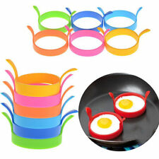 2x Silicone Pancake Fry Egg Ring Frying Fried Egg Round Mold Kitchen Gadget SU