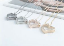 Floating Charm Living Memory Glass Heart Locket Charms Pendant Necklace Choose