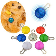 HOT Chic Pet Cats dogs Puppy LED Flashing Dog Collar Safety Night Light Pendant