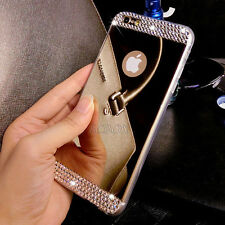 Deluxe Ultra-thin Mirror Transparent TPU Case Cover Skin For iPhone & Samsung