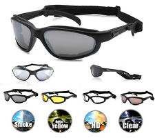 Choppers Motorcycle Riding Sunglasses Glasses Foam Padded Goggles Strap Mens