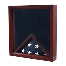 Military Flag And Certificate Display Case Hand Made By Veterans