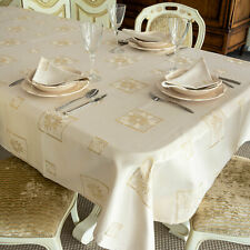 LUXURY XMAS TABLECLOTH / NAPKINS-ANTI STAIN RESISTANT TREATMENT- REF. CHRISTMAS