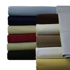 Twin XL Sheet Set, 600 Thread count Solid Soft 100% Cotton Bed Sheets Collection