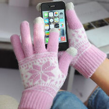 Snowflake Knitted Screen Touch Gloves Unisex Phone Daily Necessities Lovers Gift