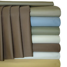"""22"""" Extra Deep Pocket King-Size Sheets, 300 Thread Count 4PC Cotton Sateen Set"""