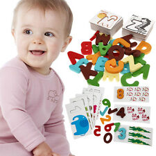 Child Baby Kids Learning Educational Card Toy Alphabet Letter Digital Number Toy