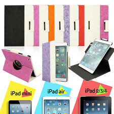 For Apple iPad 2 3 4 AIR 360 Rotating Magnetic PU Leather Case Smart Cover Stand
