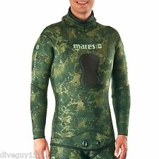 Mares Pure Instinct 5.5mm Wetsuit (Jacket Only) Scuba Diving - Camo Green
