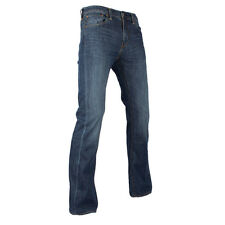Mens Levis 527 Mostly Mid Blue Slim Bootcut Jeans
