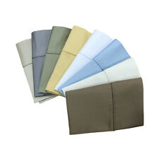 King-Size Pillowcases 1000 Thread Count Solid Egyptian Cotton