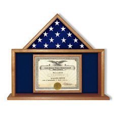 Air Force Flag And Certificate Display Case Hand Made By Veterans
