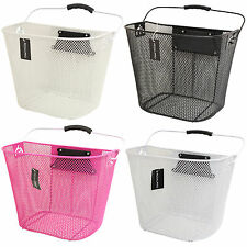 PedalPro Bicycle Front Handlebar Mesh Basket with Carry Handle Shopping/Bike