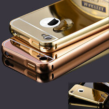Luxury Slim Thin Aluminum Bumper Mirror Back Cover Case For Apple iPhone 4/4S