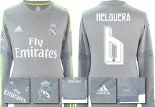 *15 / 16 - ADIDAS ; REAL MADRID AWAY SHIRT LS / HELGUERA 6 = SIZE*