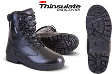 Military Army Full Leather Combat Patrol Boot Tactical Black Cadet All Sizes New