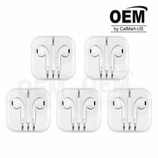 5X White Earbud Headset Earphone w/ Volume Control Mic For iPhone 5s 6 6s Plus