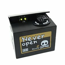 New Automated Ghost Skull Skeleton Stealing Money Saving Box Coin Piggy Bank