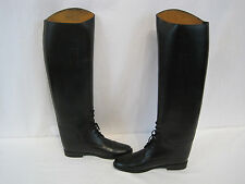 Her Royal Highness Kirby Equestrian Riding Black Leather Boots Size 6M (HK1105)