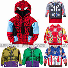 Boys Kids Avengers Clothes Girls Sweatshirt Hoodies Jacket Coat Cospaly Outfit