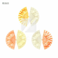 Resin Fan Flower Vintage Flatback Cabochon Cameo Wholesale Lots Choose RB0610