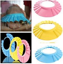 Cute Soft Baby Kid Children Shampoo Bath Bathing Shower Cap Hat Wash Hair Shield