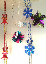 Christmas Party Foil Hanging Fan Swirl Decorations Design To Choose Stars.Balls